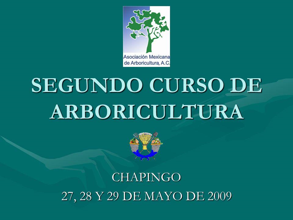SEGUNDO CURSO DE ARBORICULTURA CHAPINGO 27, 28 Y 29 DE MAYO DE 2009