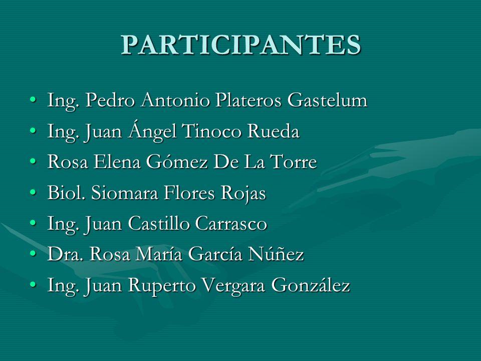 PARTICIPANTES Ing.Pedro Antonio Plateros GastelumIng.
