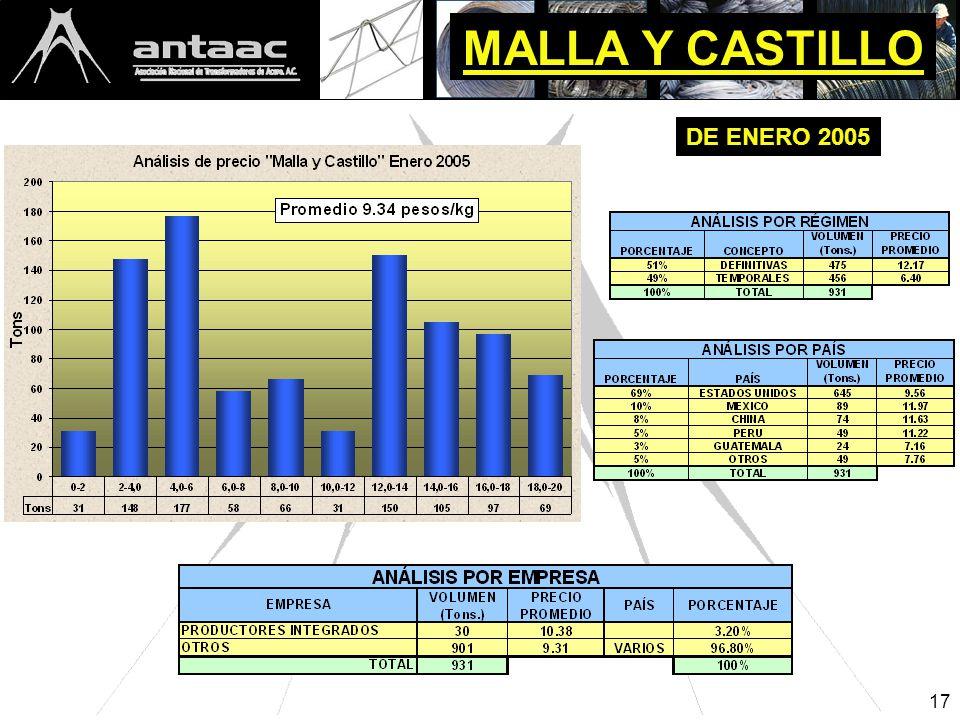 17 MALLA Y CASTILLO DE ENERO 2005