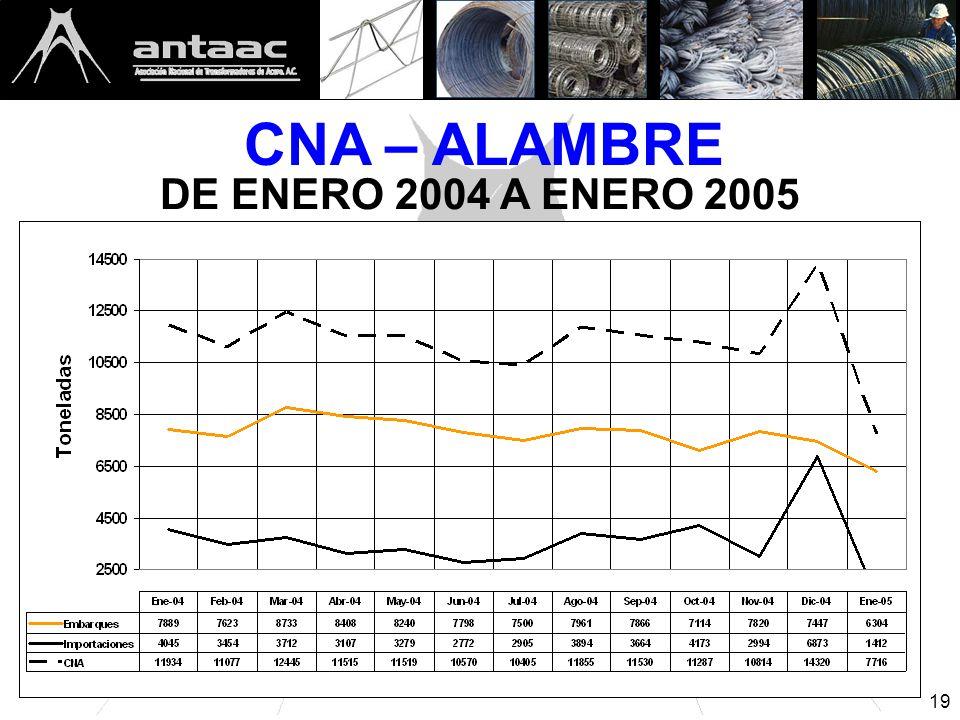 19 CNA – ALAMBRE DE ENERO 2004 A ENERO 2005