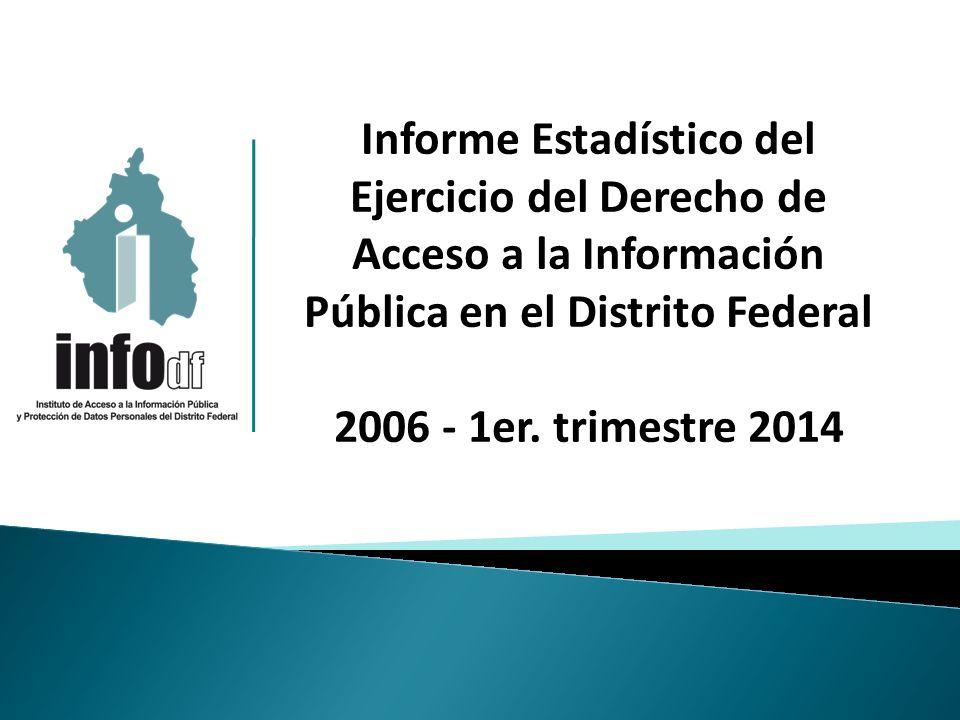 Informe Estadístico del Ejercicio del Derecho de Acceso a la Información Pública en el Distrito Federal 2006 - 1er.