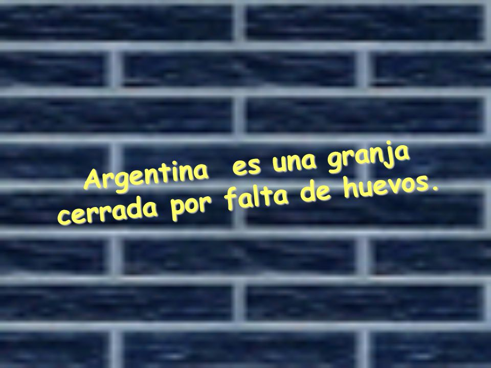Argentina es una granja cerrada por falta de huevos.