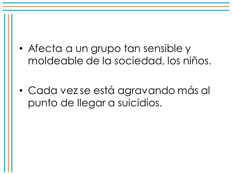 El 40% de los niños que acude a las escuelas en México ha sido víctima del bullying, Unicef.