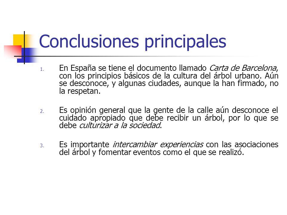 Conclusiones principales 1.