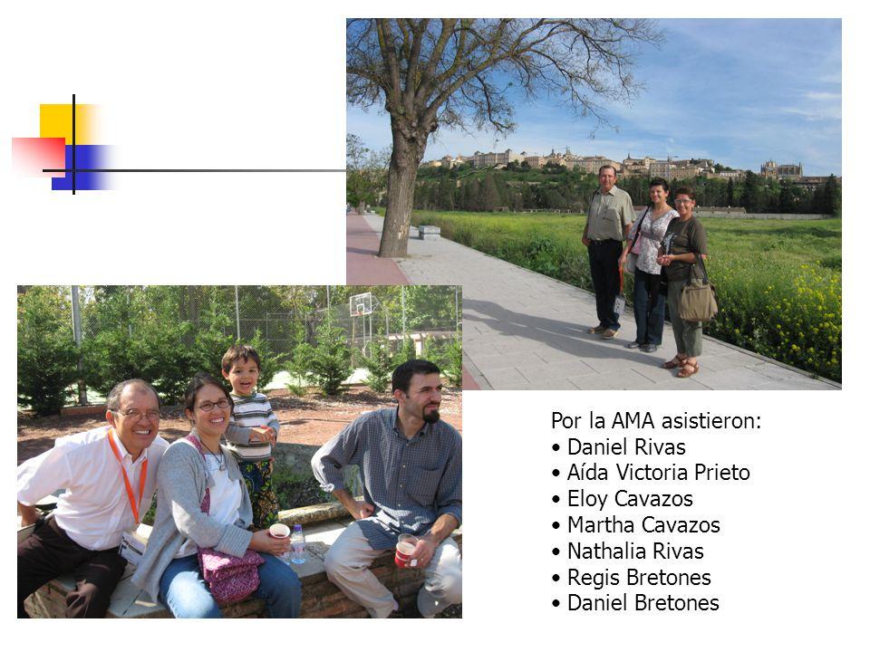 Por la AMA asistieron: Daniel Rivas Aída Victoria Prieto Eloy Cavazos Martha Cavazos Nathalia Rivas Regis Bretones Daniel Bretones