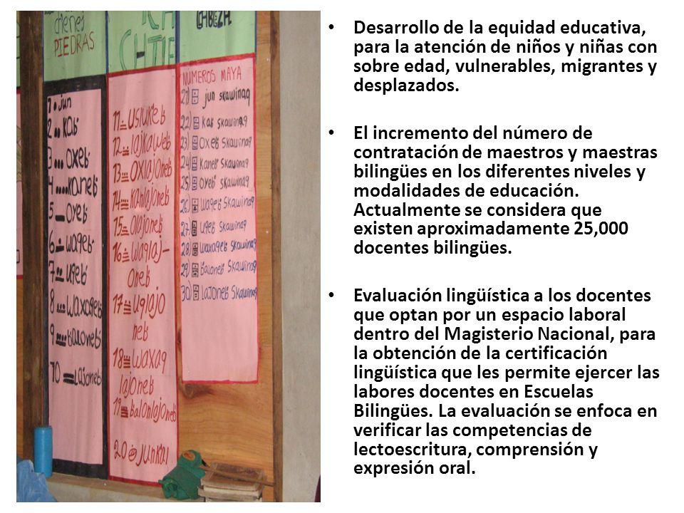 Desarrollo de la equidad educativa, para la atención de niños y niñas con sobre edad, vulnerables, migrantes y desplazados.