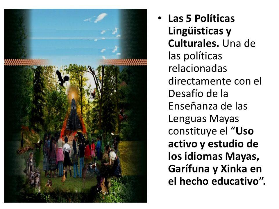 Las 5 Políticas Lingüisticas y Culturales.