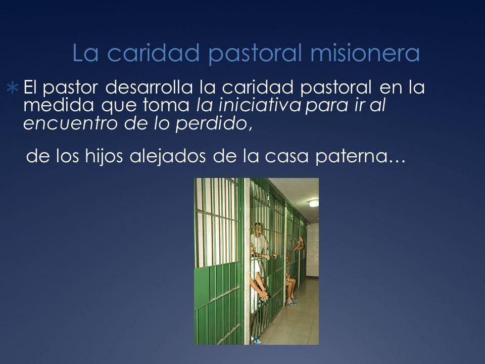La caridad pastoral misionera El pastor desarrolla la caridad pastoral en la medida que toma la iniciativa para ir al encuentro de lo perdido, de los hijos alejados de la casa paterna…