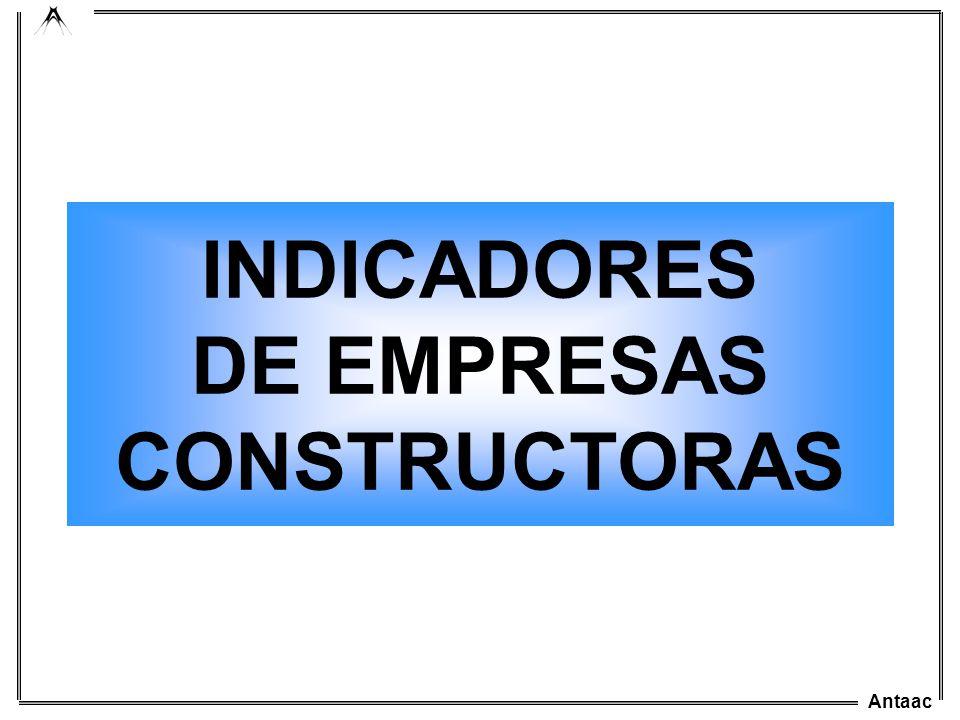 Antaac INDICADORES DE EMPRESAS CONSTRUCTORAS