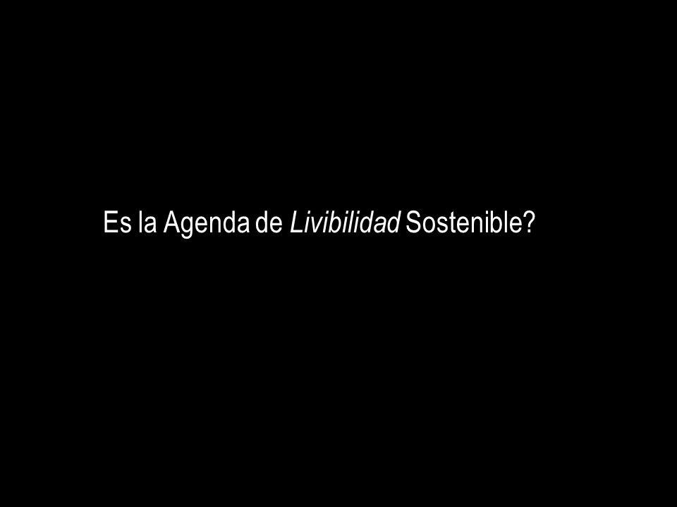 Es la Agenda de Livibilidad Sostenible