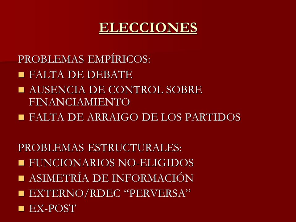 RENDICIÓN DE CUENTAS: DEFINICION AMPLIADA INFORMAR INFORMAR EXPLICAR EXPLICAR JUSTIFICAR JUSTIFICAR SUJETARSE A CASTIGOS Y RECOMPENSAS SUJETARSE A CASTIGOS Y RECOMPENSAS INCLUIR LAS TRES DIMENSIONES TEMPORALES (PASADO, PRESENTE Y FUTURO) INCLUIR LAS TRES DIMENSIONES TEMPORALES (PASADO, PRESENTE Y FUTURO) NO CIRCUNSCRIBIRSE A LAS RELACIONES PRINCIPAL-AGENTE NO CIRCUNSCRIBIRSE A LAS RELACIONES PRINCIPAL-AGENTE EXIGIR UNA ACTITUD PRO-ACTIVA EXIGIR UNA ACTITUD PRO-ACTIVA