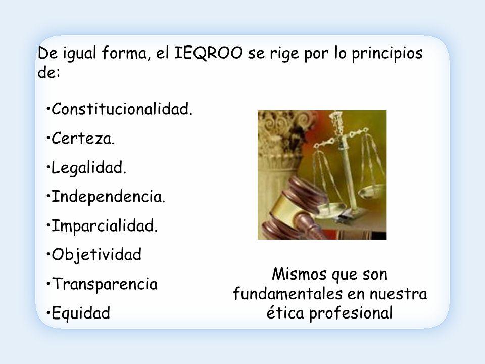 Pero, quizás te preguntes: ¿y qué diferencia hay entre el IEQROO y el IFE.
