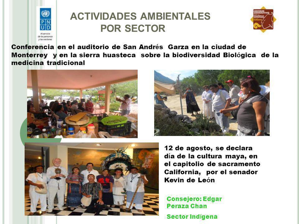 Conferencia en el auditorio de San Andr é s Garza en la ciudad de Monterrey y en la sierra huasteca sobre la biodiversidad Biol ó gica de la medicina