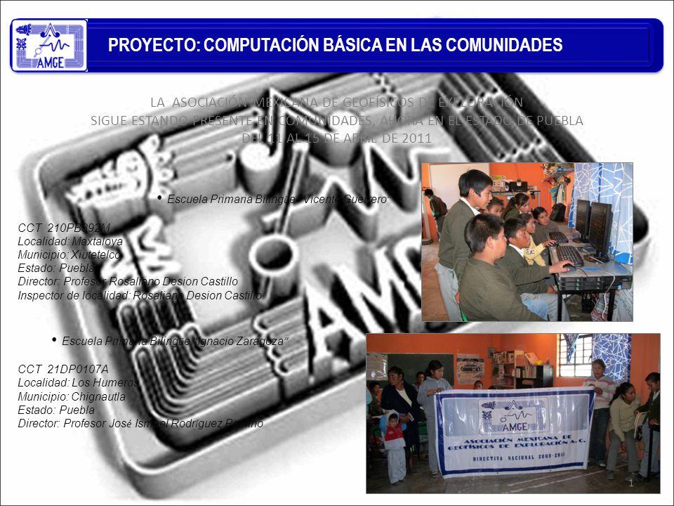 PROYECTO: COMPUTACIÓN BÁSICA EN LAS COMUNIDADES 2