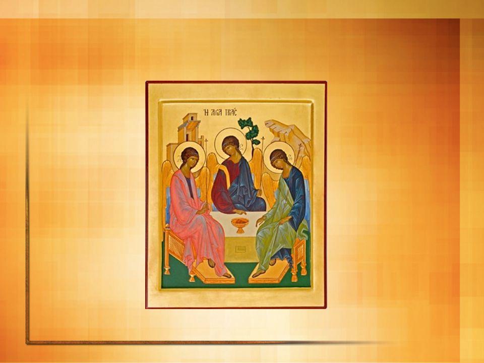 Un ícono trinitario y eucarístico La Copa con el Cordero: Es el punto de convergencia de las tres personas, contiene el misterio del Amor del Padre que entrega a su Hijo, del Amor del Hijo crucificado y del Amor del Espíritu triunfante por la fuerza de la Cruz.