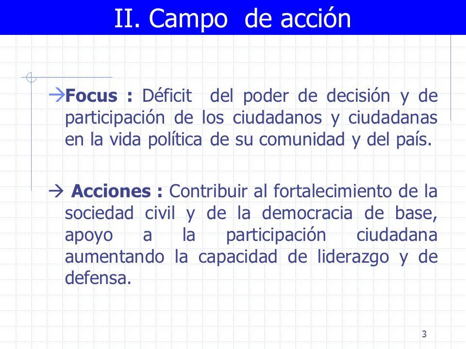 2 Hechos Débil participación de la población en la vida política del país.