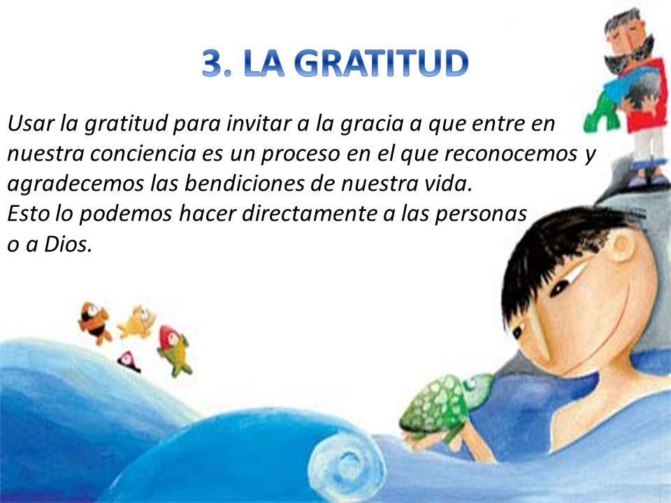 Usar la gratitud para invitar a la gracia a que entre en nuestra conciencia es un proceso en el que reconocemos y agradecemos las bendiciones de nuest