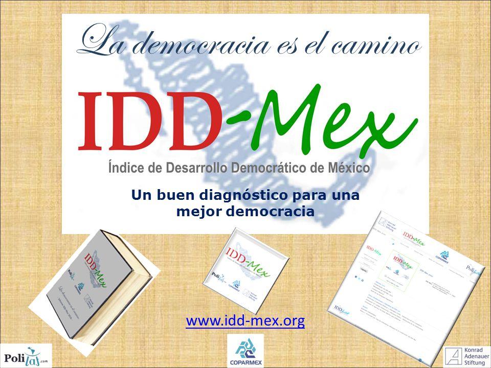 Un buen diagnóstico para una mejor democracia La democracia es el camino www.idd-mex.org