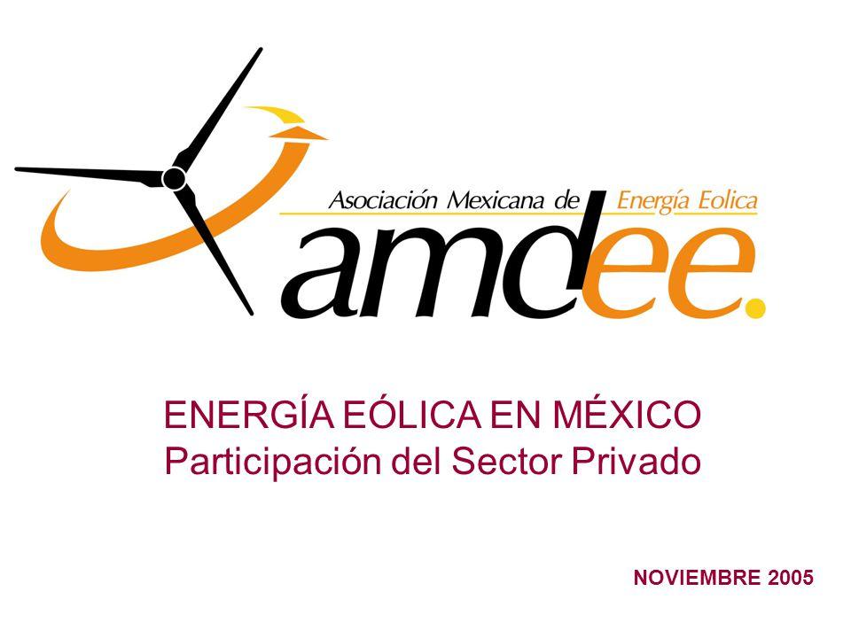 NOVIEMBRE 2005 ENERGÍA EÓLICA EN MÉXICO Participación del Sector Privado