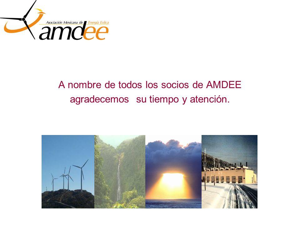 A nombre de todos los socios de AMDEE agradecemos su tiempo y atención.