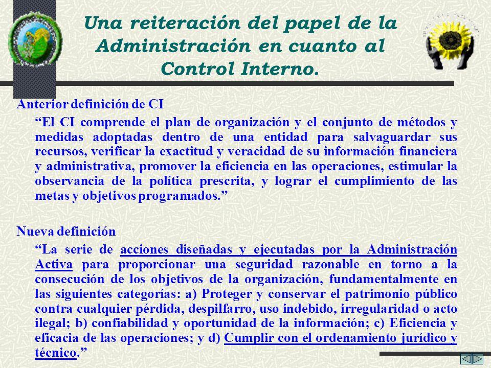 Anterior definición de CI El CI comprende el plan de organización y el conjunto de métodos y medidas adoptadas dentro de una entidad para salvaguardar