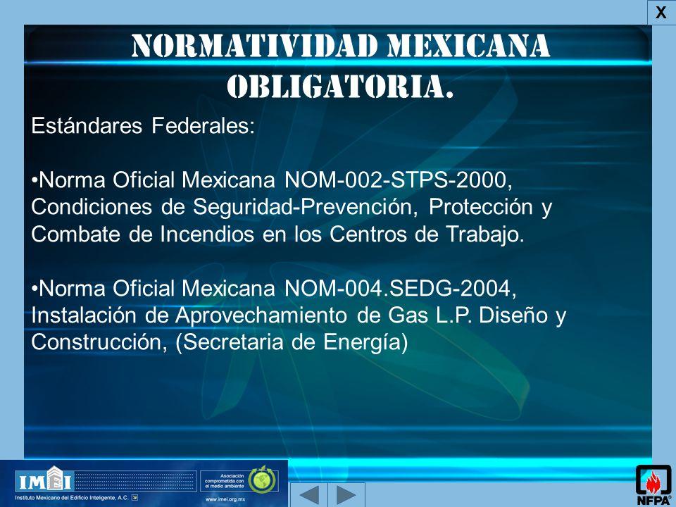 Normatividad Mexicana obligatoria.