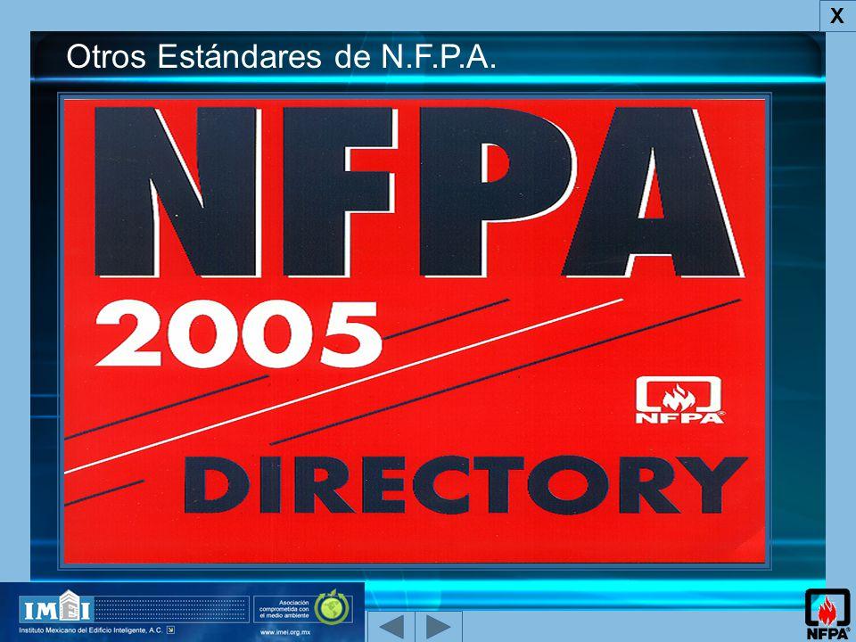 X Otros Estándares de N.F.P.A.