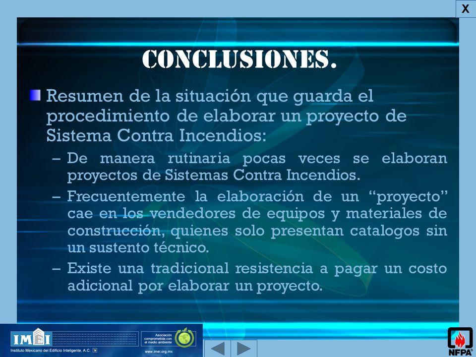 X Conclusiones.