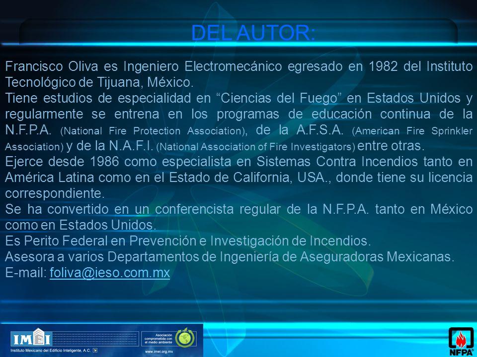 Francisco Oliva es Ingeniero Electromecánico egresado en 1982 del Instituto Tecnológico de Tijuana, México.