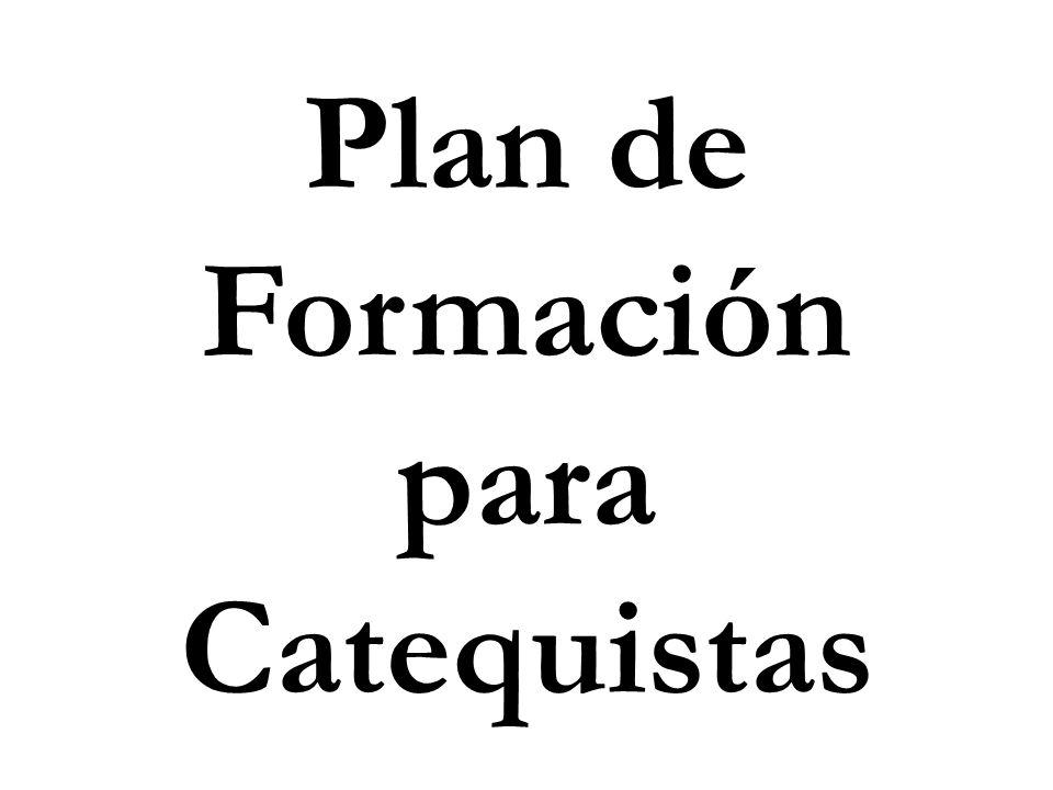 Inicial (propedéutico) Tener los elementos teórico- prácticos que favorezcan la formación para madurar la vocación al ministerio de la Catequesis.