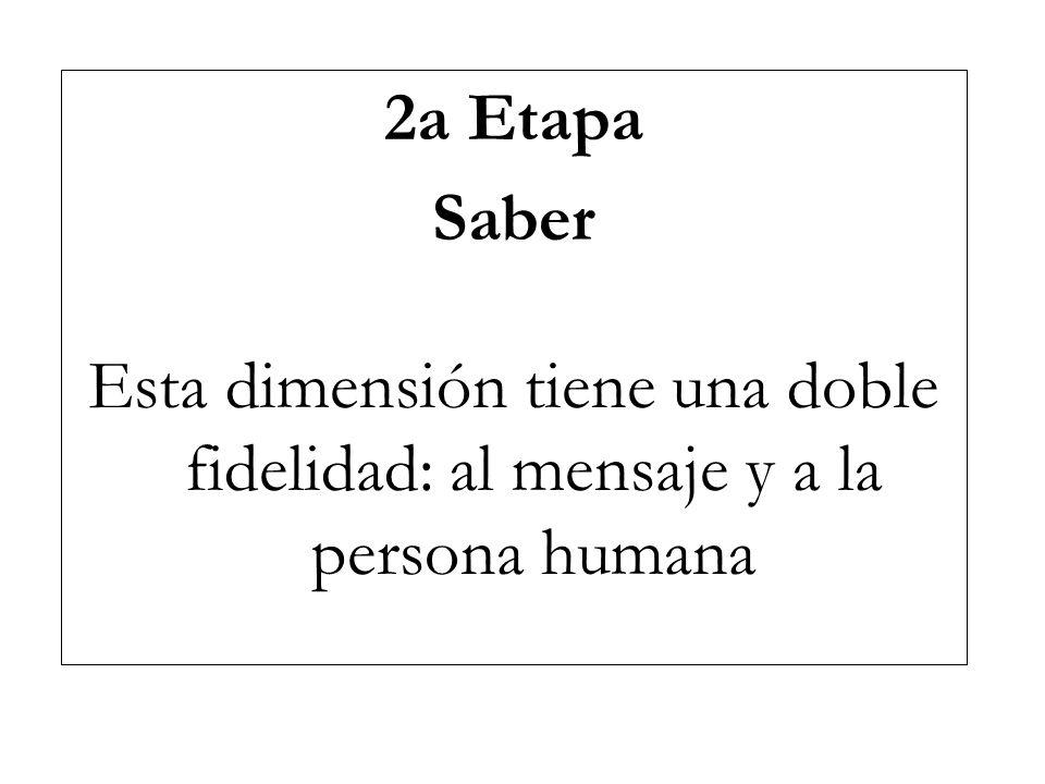 3a Etapa Saber Hacer Es la dimensión que hace del catequista un educador del hombre y de la vida del hombre