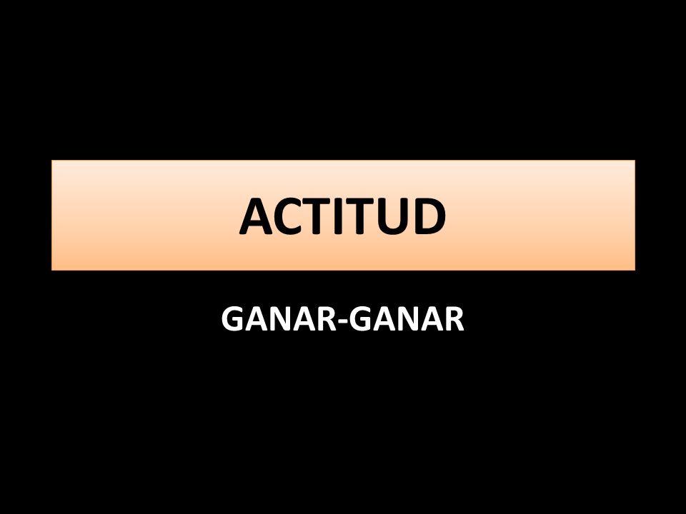 ACTITUD GANAR-GANAR