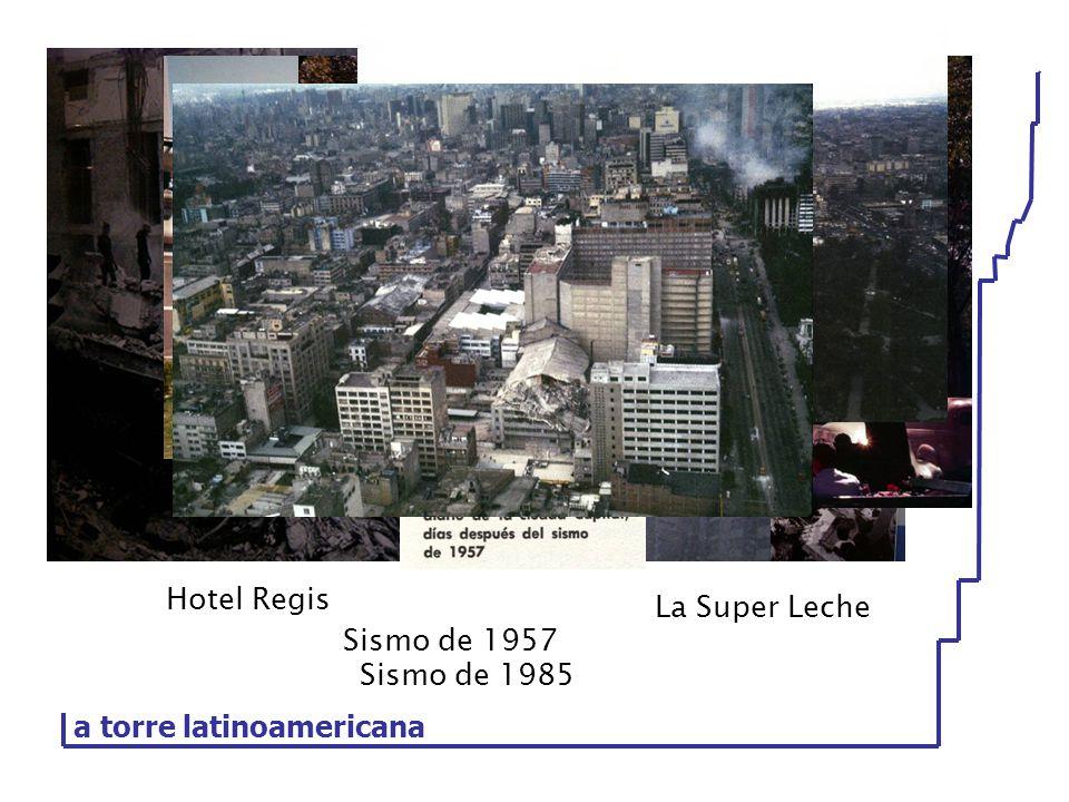 a torre latinoamericana Sismo de 1985 Hotel Regis La Super Leche Sismo de 1957