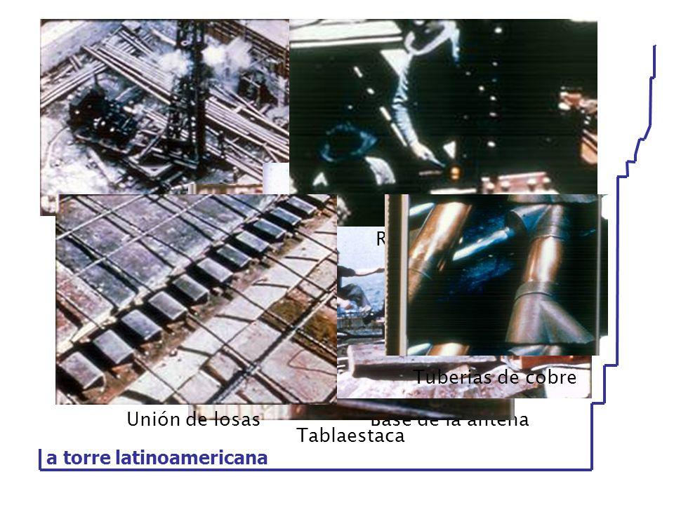 Piloteadora Base de la antena Tablaestaca Remachado Tuberias de cobre Unión de losas