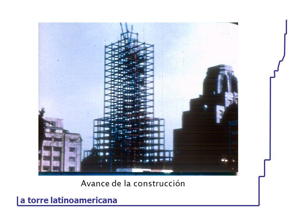 Avance de la construcción a torre latinoamericana