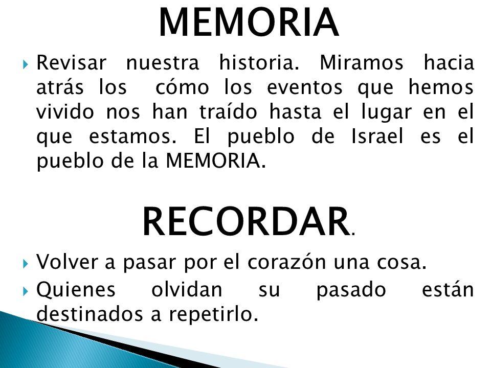 MEMORIA Revisar nuestra historia.