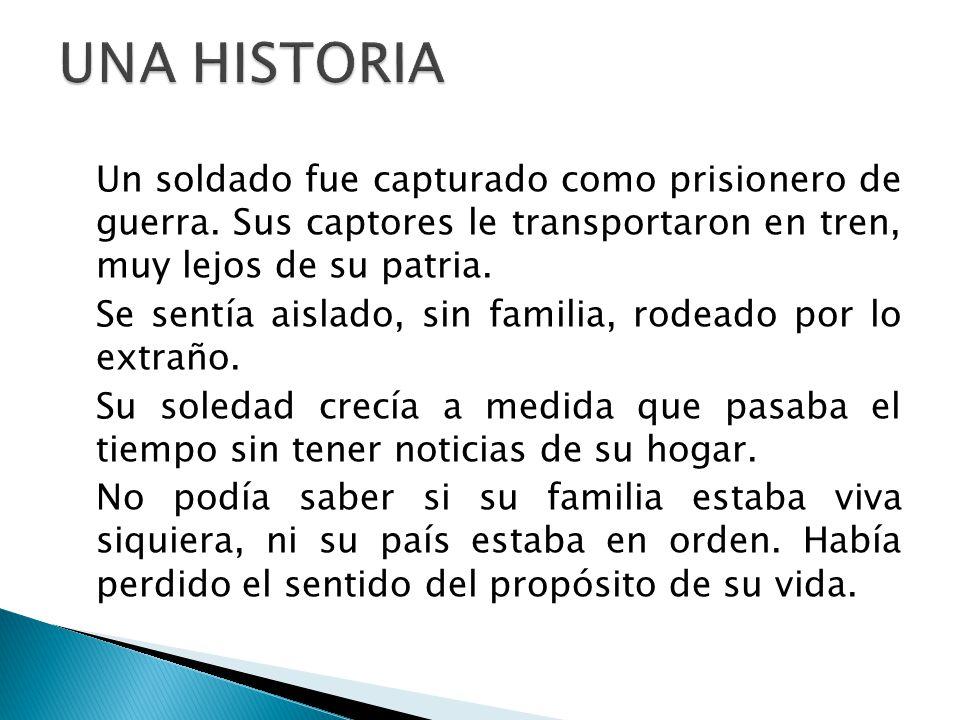 Un soldado fue capturado como prisionero de guerra.