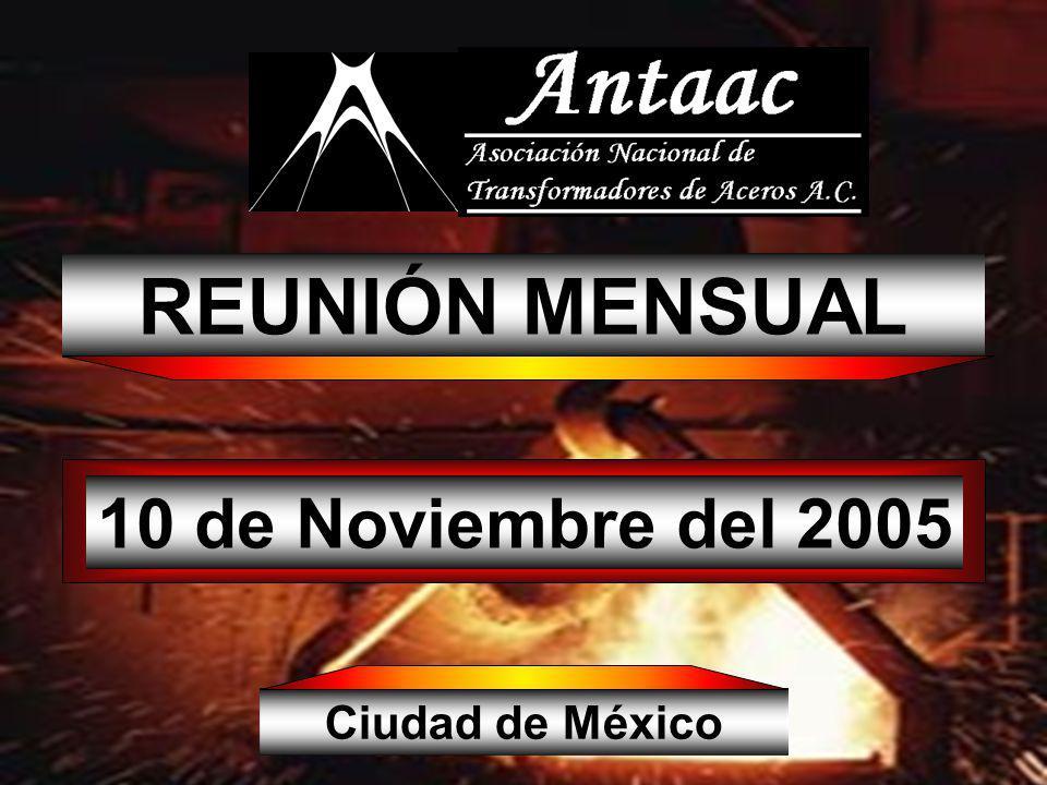 10 de Noviembre del 2005 REUNIÓN MENSUAL Ciudad de México