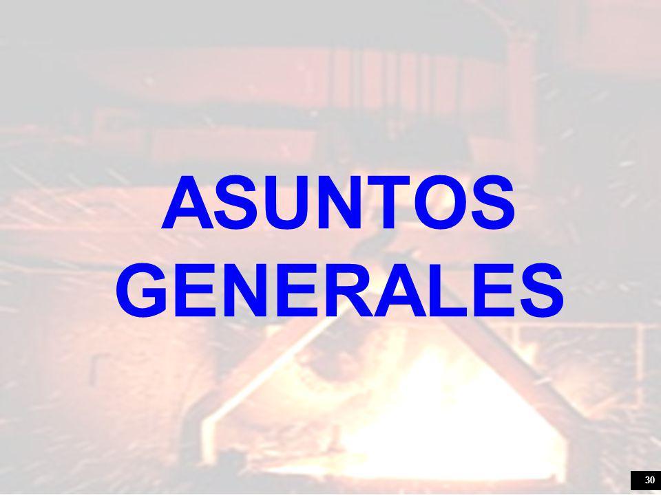 30 ASUNTOS GENERALES