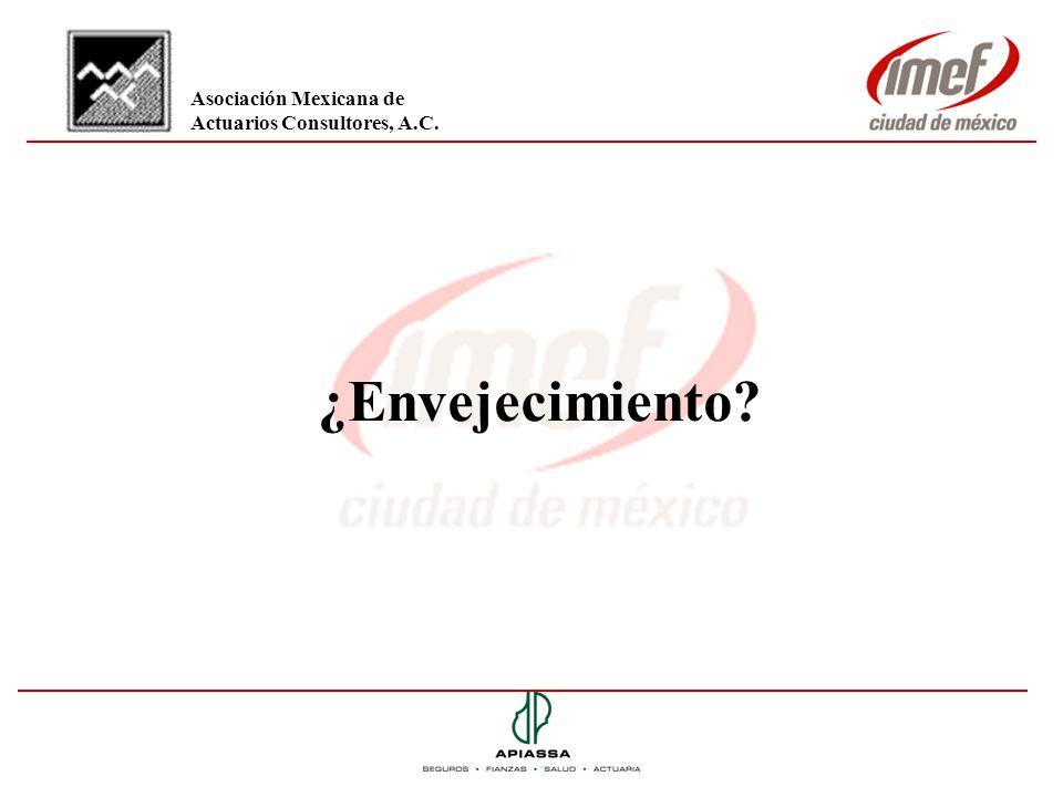 ¿Envejecimiento? Asociación Mexicana de Actuarios Consultores, A.C.
