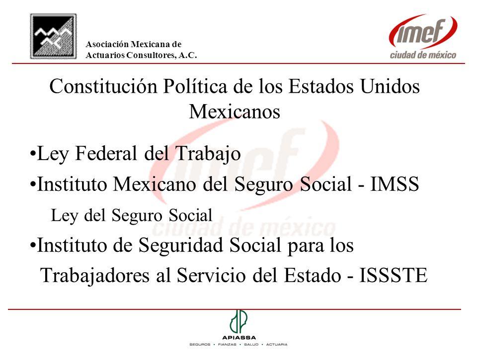 Constitución Política de los Estados Unidos Mexicanos Ley Federal del Trabajo Instituto Mexicano del Seguro Social - IMSS Ley del Seguro Social Instit