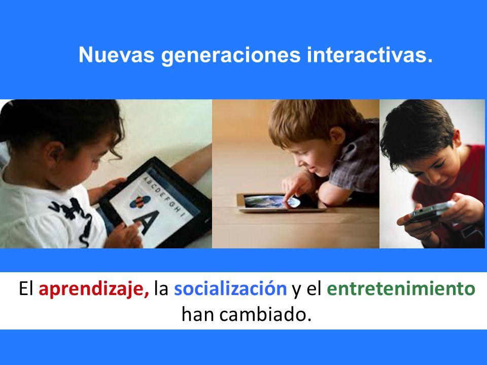 El aprendizaje, la socialización y el entretenimiento han cambiado.