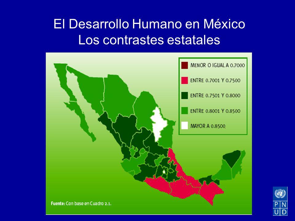El Desarrollo Humano en México Los contrastes estatales