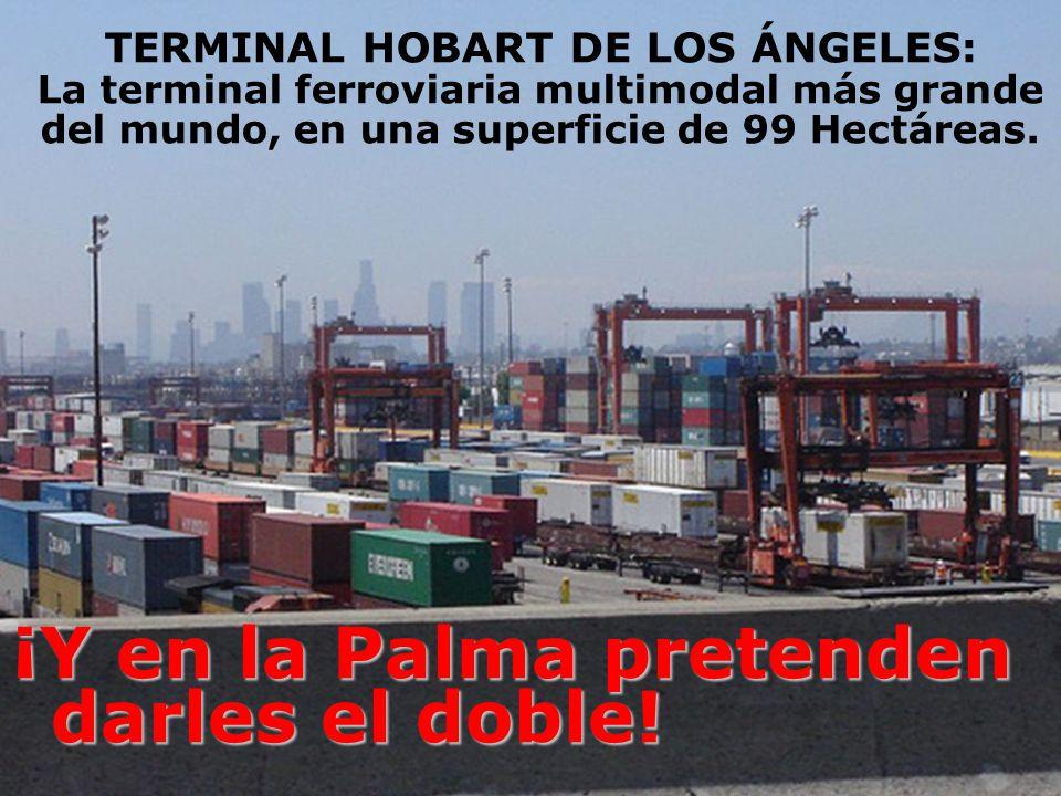 TERMINAL HOBART DE LOS ÁNGELES: La terminal ferroviaria multimodal más grande del mundo, en una superficie de 99 Hectáreas. ¡Y en la Palma pretenden d