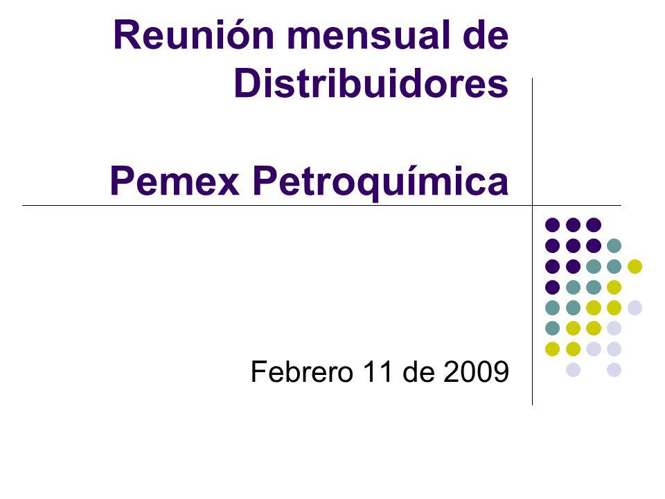 Reunión mensual de Distribuidores Pemex Petroquímica Febrero 11 de 2009