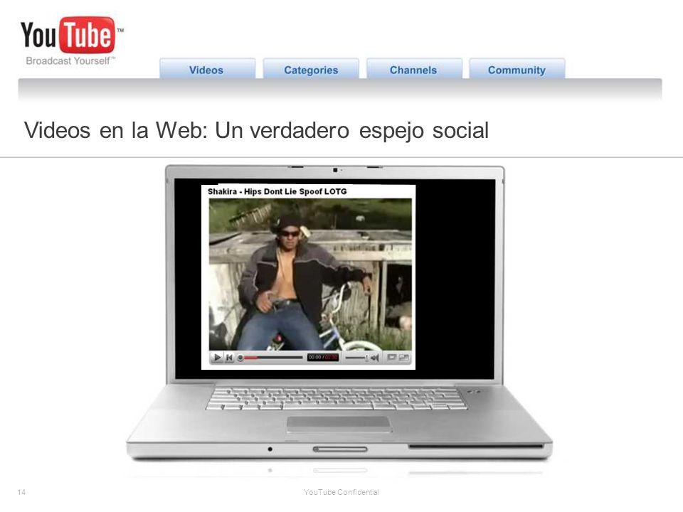 14 YouTube Confidential The YouTube Opportunity Videos en la Web: Un verdadero espejo social