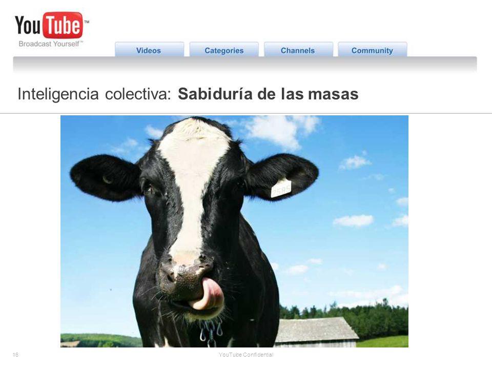 16 YouTube Confidential The YouTube Opportunity Inteligencia colectiva: Sabiduría de las masas