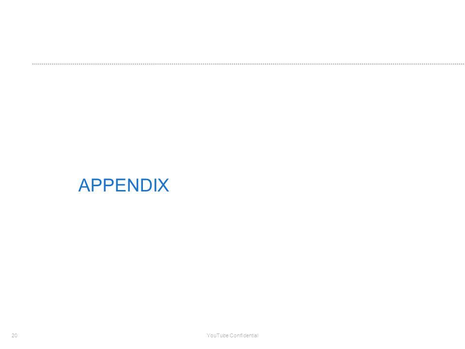 20 YouTube Confidential APPENDIX