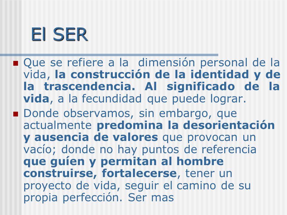 El ESTAR Se refiere a aspectos societales como la necesidad de tener un lugar en la comunidad; de poder permanecer en su lugar de origen, con su familia, en su país.