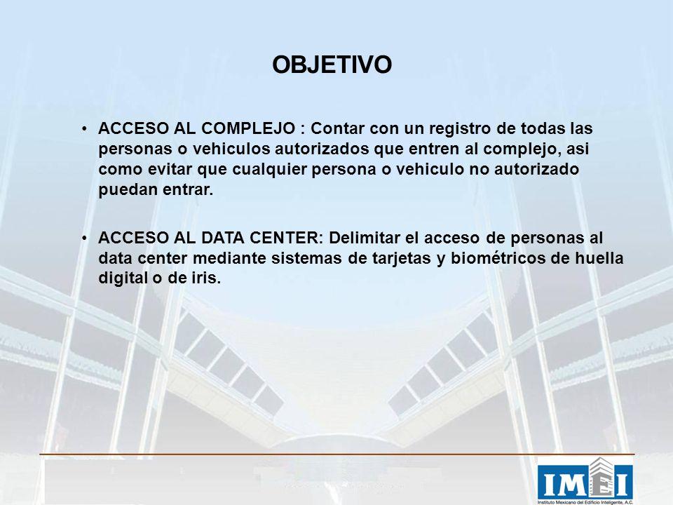 ACCESO AL COMPLEJO : Contar con un registro de todas las personas o vehiculos autorizados que entren al complejo, asi como evitar que cualquier person